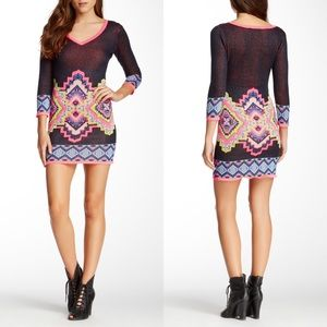 Flying Tomato Tribal Sweater Mini Dress, Size M